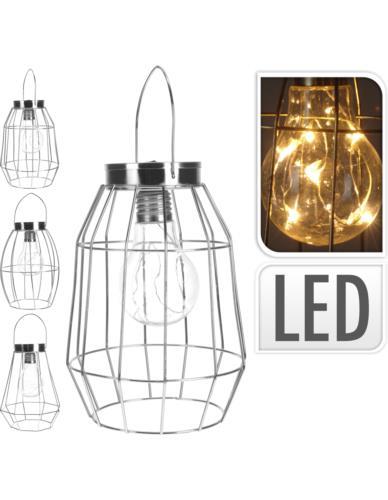 Lampa Druciana Srebrna LED