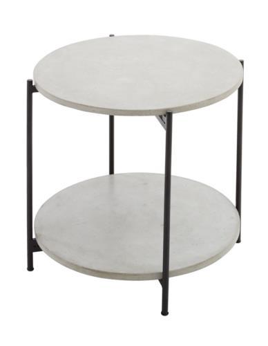 Stolik metalowy z betonowym Blatem