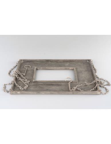 Półka metalowa wisząca na doniczki/świece
