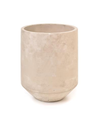 Doniczka Cylinder na podstawie H26 cm Beton