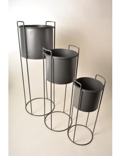 Osłonka metalowa na stojaku szara - 3 wielkości