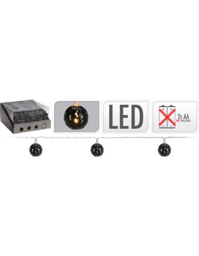 Girlanda Metalowe Kulki Czarne LED