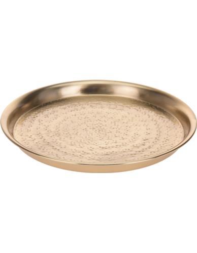 Taca / Talerz metalowy złoty D28cm