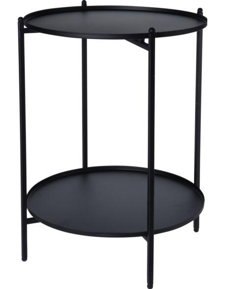 Stolik Metalowy czarny 2 poziomy