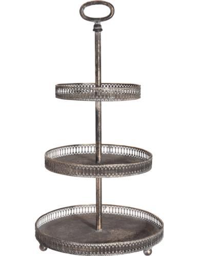 Patera dekoracyjna metalowa / Etażerka