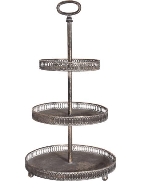 Patera dekoracyjna metalowa 3 poziomy