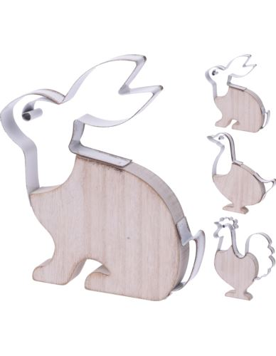 Figurka Ptak/Zając z drewna 19cm