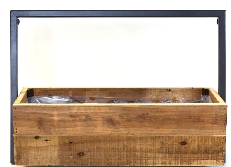 Osłonka skrzynka prostokąt z uchwytem L49 Drewno
