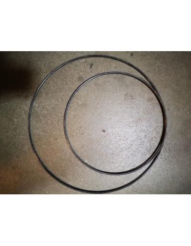 Obręcz metalowa szara D40cm