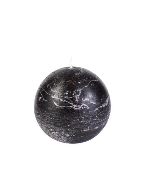 Świeca kula 100 mm czarna