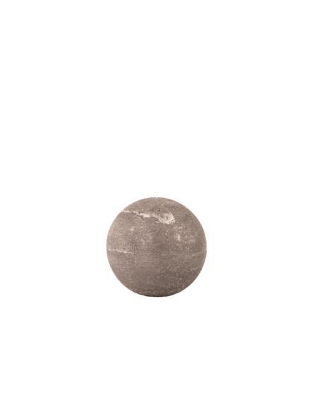 Świeca kula 100 mm szara