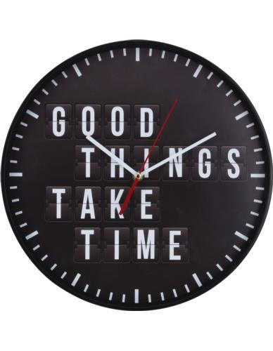 Zegar Ścienny D35 cm Napis