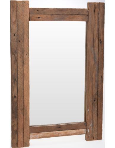 Lustro 50X70 cm Drewno tekowe