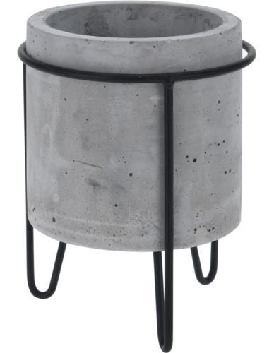 Doniczka Cylinder na stojaku  Beton
