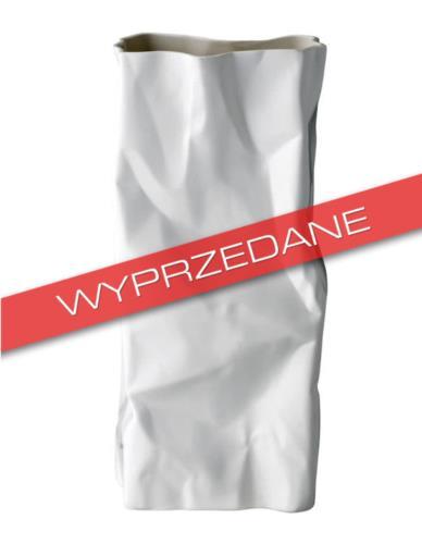 Wazon ceramiczny Gnieciony papier Biały