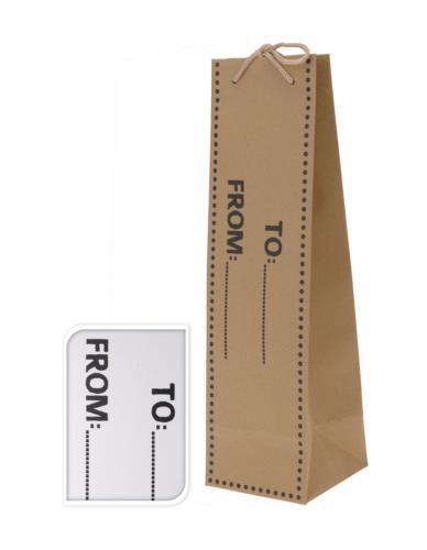 Torebka prezentowa na butelkę 10x10x35cm