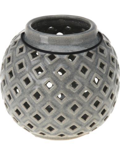 Lampion ceramiczny 17 cm w dziurki