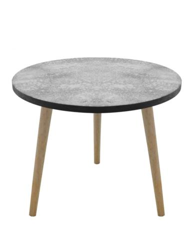 """Stół okrągły z """"cementowym"""" blatem mały"""