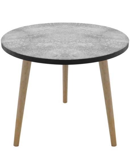 """Stół okrągły z """"cementowym"""" blatem duży"""
