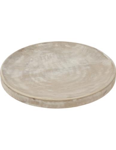 Podstawka Okrągła Drewno bielone D30cm