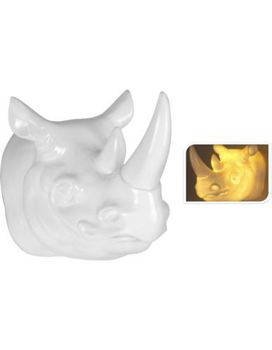 Głowa nosorożca podświetlana