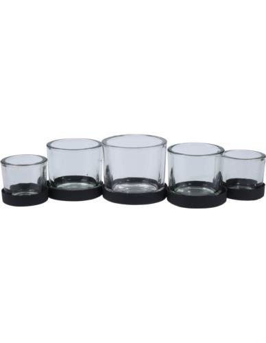 Świecznik Tealight 5 szklanek