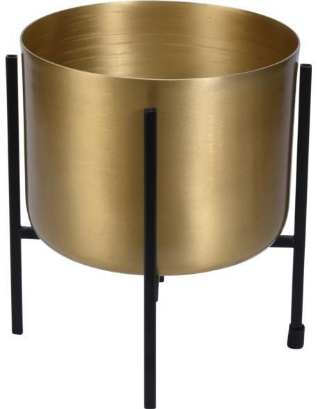 Osłonka metalowa na stojaku złota duża