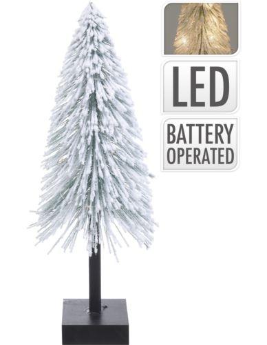 Choinka na podstawie Ośnieżona 40cm LED