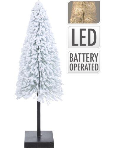 Choinka na podstawie Ośnieżona 60cm LED