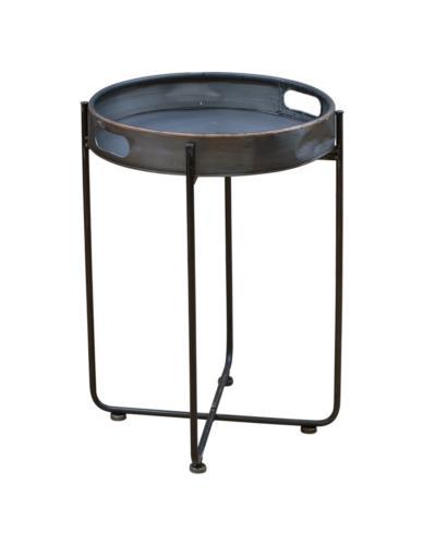 Stolik metalowy z miedzią mały