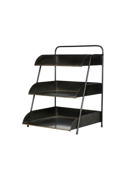 Regał metalowy na biurko 3-Półki 35x30x46 cm Metal