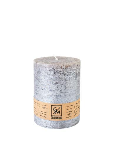 Świeca walec 150/70 mm stare srebro