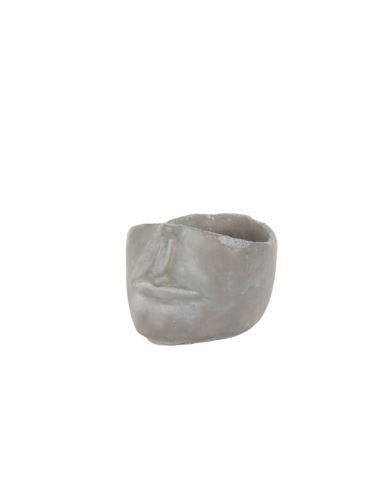 Doniczka betonowa - pół twarzy mała