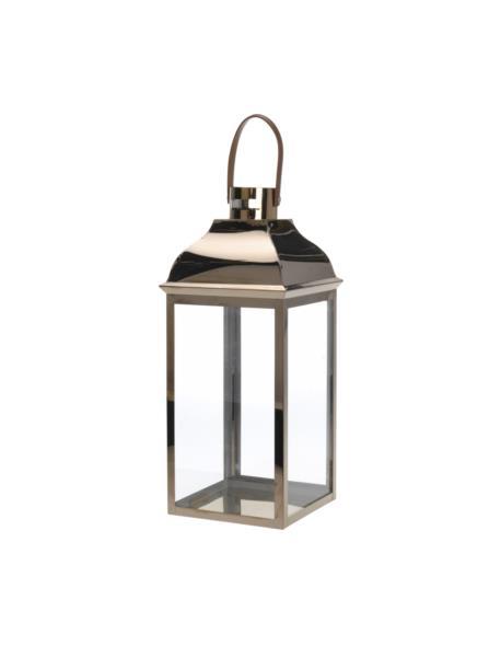 Lampion miedziany z paskiem skórzanym