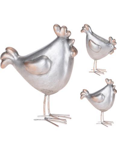 Kogut srebrny kształt mix