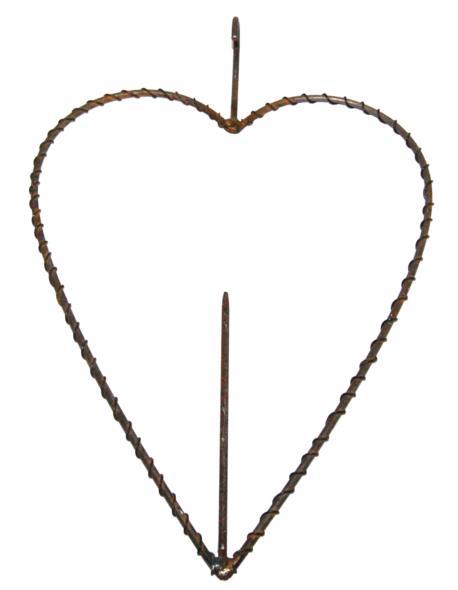 Serce rdzewione splot H24cm