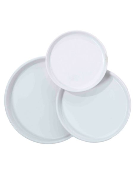 Talerz/Taca Biały Ceramika D21 cm