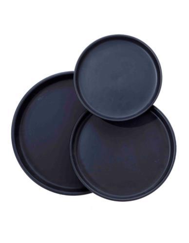Talerz/Taca ceramiczny czarny Ceramika komplet 3 szt.