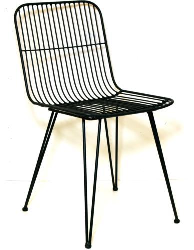 Krzesło Metal Czarne