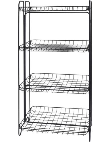 Regał metalowy 4-półki 49x33x92 cm