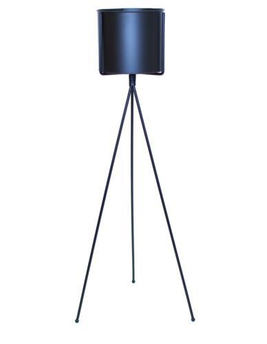 Osłonka metalowa wysoka na stojaku czarna