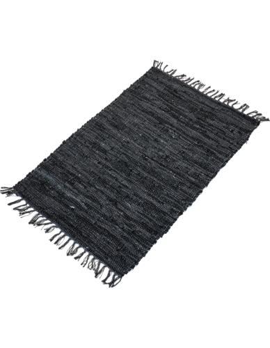 Dywan Skórzany 60x90 cm Czarny