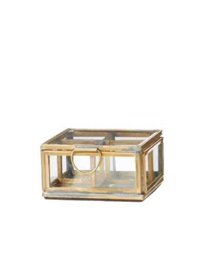 Szkatułka szklana w złotej obudowie Mini