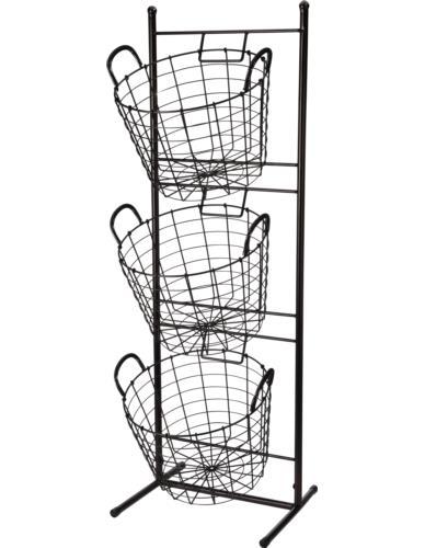 Stojak metalowy z 3 koszami