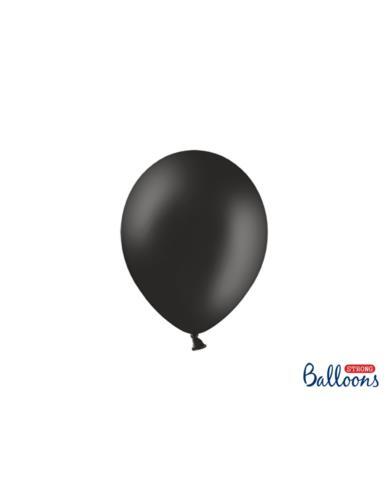 Balony Strong 23Cm Gładki Czarny Mat
