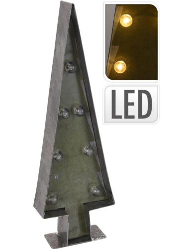 Choinka metalowa LED H36 cm