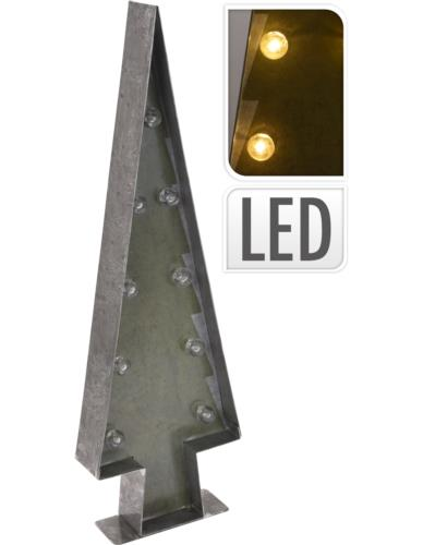 Choinka metalowa LED H46 cm