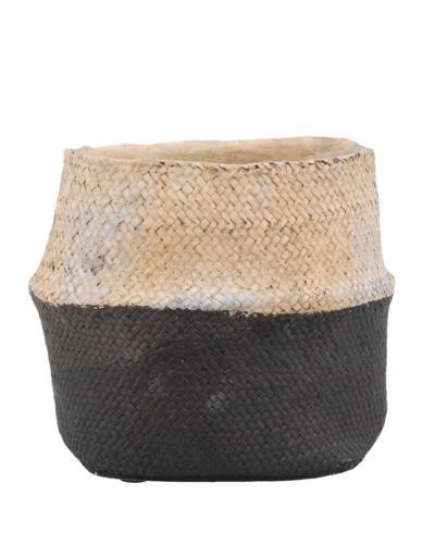 Doniczka ceramiczna jak kosz pleciony Duża