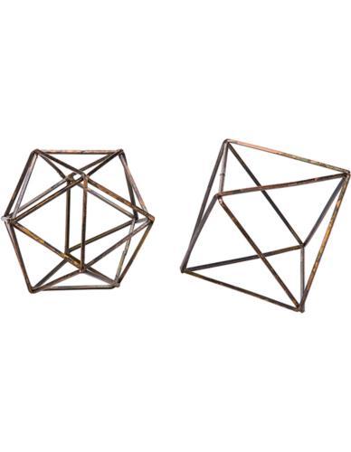 Forma Geometryczna druciana Złoto Antik Mix