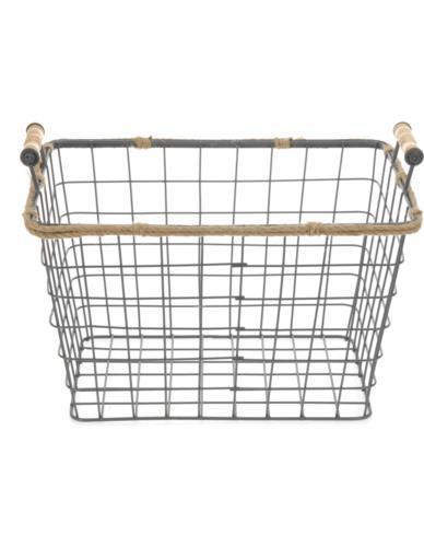 Koszyk metalowy z jutą